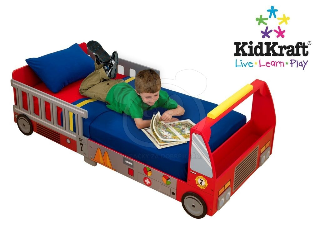 Detska Postylka KidKraft FIRE TRUCK TODDLER BED